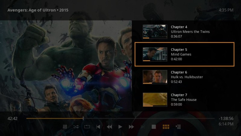 Plex for Roku Movie Chapters