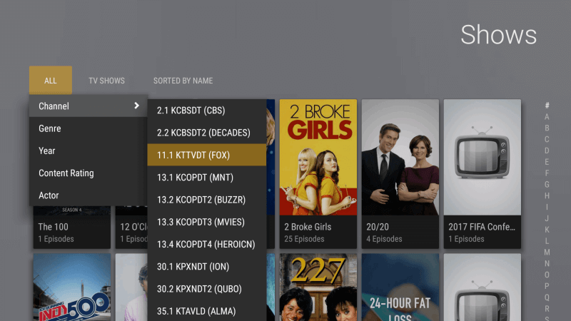 Sort by Channel - Plex Live TV & DVR