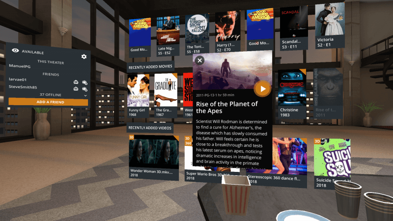 Watch Plex in virtual reality via Google Daydream